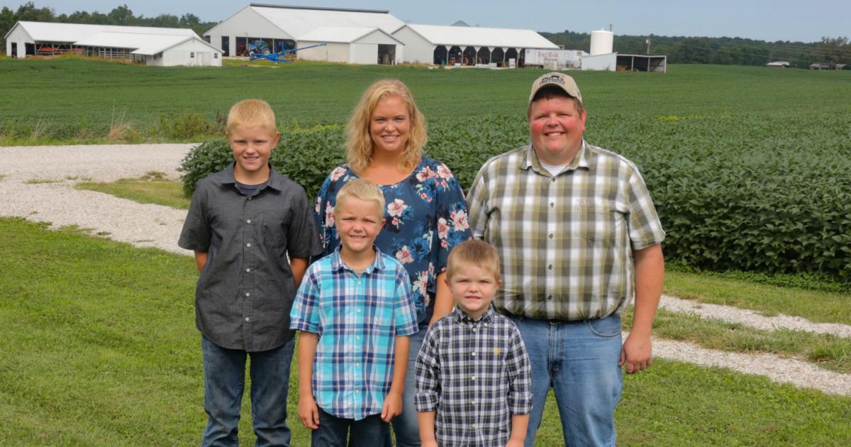 "Caleb and Leanne Ragland of Magnolia, Kentucky were honored as Kentucky Farm Bureau's ""2020 Outstanding Young Farm Family"" at Kentucky Farm Bureau's 101st Annual Meeting."