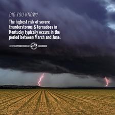 Spring storm season preparedness tip