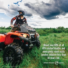 "<span style=""background-color: rgb(220, 236, 253);"">ATV safety tip</span>"