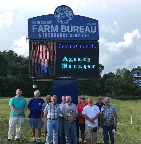 Boyd County Farm Bureau Agency On Us Route 60 Gets New Office Sign Kentucky Farm Bureau