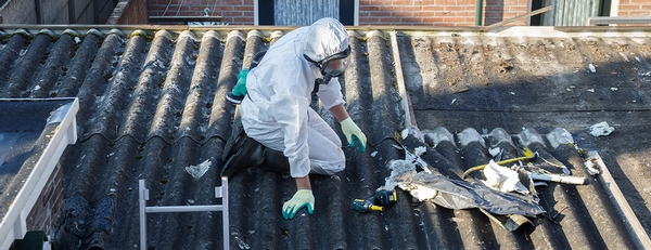 What do storms have to do with asbestos?