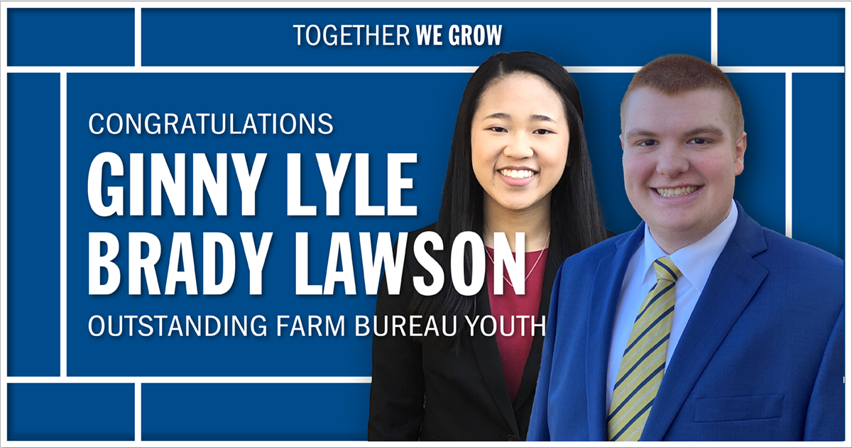 Ginny Lyle and Brady Lawson Win Outstanding Farm Bureau Youth Contest
