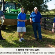 """The Kentucky Farm Bureau team watches in amazement as the """"It's How You Get There"""" crew works its TV magic before their eyes!"""
