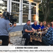A fun day of filming wrapped up around the Gilbert family's dinner table on Rhodesia Farms in Harrodsburg, Ky.