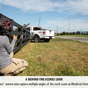 """""""It's How You Get There"""" camera men capture multiple angles of the crash scene on Rhodesia Farms in Harrodsburg, Ky."""